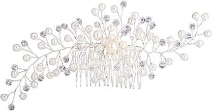 Stylebar Bridal Hair Comb Clip Wedding Hair Accessories for Brides Bridesmaids (12 Options) Flower Vine Leaf Clear Crystal Simulatd Pearl Women Girls Strand Bracelets