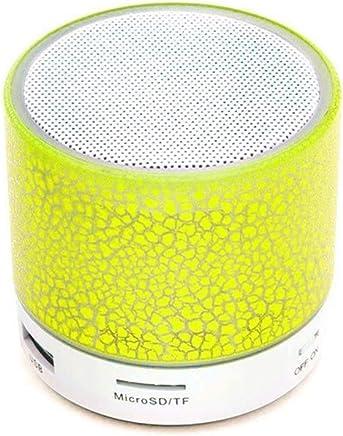 Altoparlanti portatili Altoparlante Bluetooth A9 Mini Altoparlante wireless Crack LED TF USB Subwoofer bluetooth Altoparlanti mp3 stereo audio lettore musicale (Color : Yellow) - Trova i prezzi più bassi
