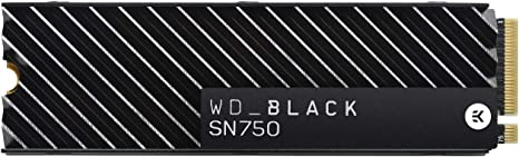 TALLA 500GB. WD_BLACK SN750 de 500 GB - SSD NVMe interno para gaming, PCIe Gen 3, con disipador térmico