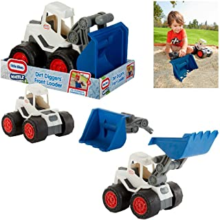 Little Tikes Dirt Diggers 2-In-1 Haulers Front Loader, Blue/Gray
