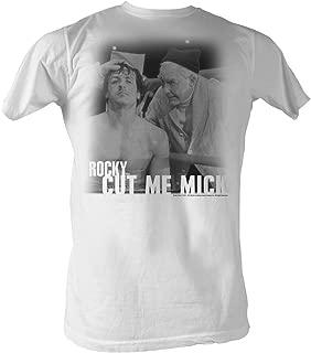 Rocky T-Shirt Cut Me Mick B&W Portrait White Tee