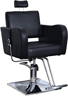 BarberPub Recliner Hydraulic Barber Chair Classic Antique Hair Spa Salon Styling Beauty Equipment 3124