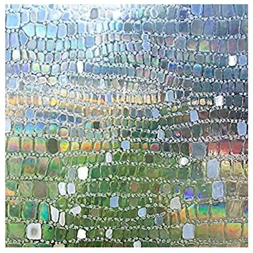 LMKJ Película para Ventanas esmerilada, Pegatinas electrostáticas de Varios tamaños, protección de la privacidad, película de Vidrio para decoración de Piedra para el hogar A53 60x200cm