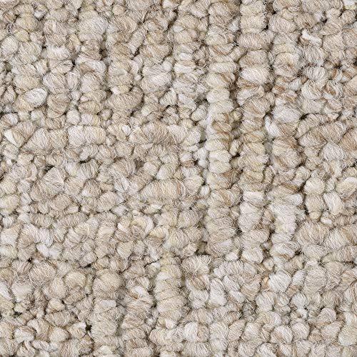 Teppichboden Auslegware   Schlinge gemustert   200, 300, 400 und 500 cm Breite   hell-beige weiß   Meterware, verschiedene Größen   Größe: 6,5 x 3m