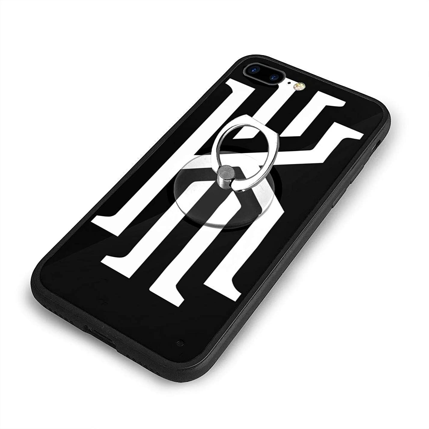 発信島曲がったKyrie Irving カイリー アービングiPhone 7/8 Plusケースリングブラケット 携帯カバー 創意デザイン軽量 傷つけ防止 360°回転ブラケット 携帯ケース PC 衝撃防止 全面保護