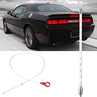 Engine Oil Dipstick, High Performance Steel Car Oil Level Dipstick Tool Automatic Transmission Fluid Tool, Compatible with Chrysler Dodge Jeep Manufacturer Part Number 917-327