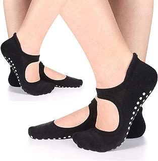 Women's Yoga Socks Non Slip Skid Socks with Grips for Pilates Ballet Barre Girls