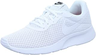 Womens Tanjun Running Shoe White/White/Black 10