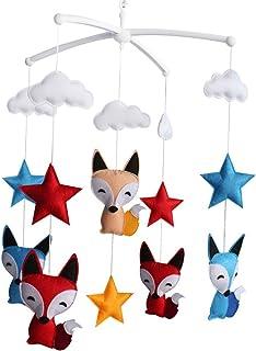 bébé Jouet mobile musical fait main de lit bébé Cadeau de Noël Renard et étoiles