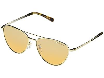Michael Kors MK1056 Barcelona Aviator Sunglasses 58mm (Light Gold 2) Fashion Sunglasses
