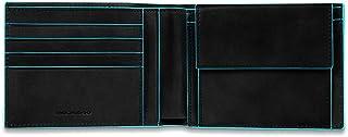 Piquadro Blue Square Portamonete con 4 Alloggiamenti per Carte di Credito, 12 cm, 0.43 litri, Nero