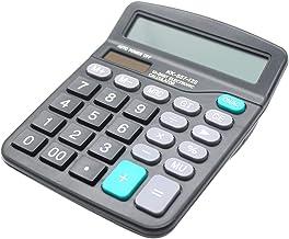 ماشین حساب میز ، ماشین حساب اداری باتری خورشیدی 12 رقمی با صفحه نمایش بزرگ LCD دکمه حساس بزرگ ، ماشین حساب های رومیزی دو قدرت