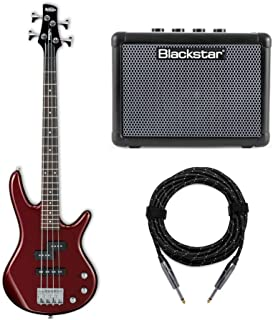 Ibanez MiKro Short-Scale Bass Guitar (GSRM20) with FLY3 Bass Amp and Knox Guitar Cable (3 Items)