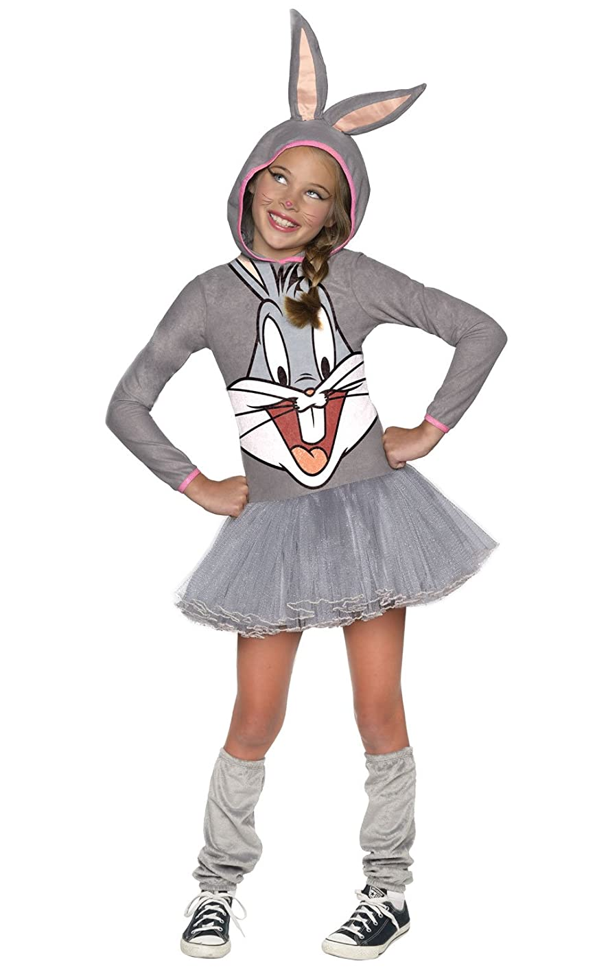 Looney Tunes Bugs Bunny Girls Hooded Costume, Child's Large wvwuscilbvj187