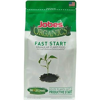 Jobe's Organics 09726 EMW7215080 Fast Start Granular Fertilizer with Biozome, 4-4-2 Org, 4 lb