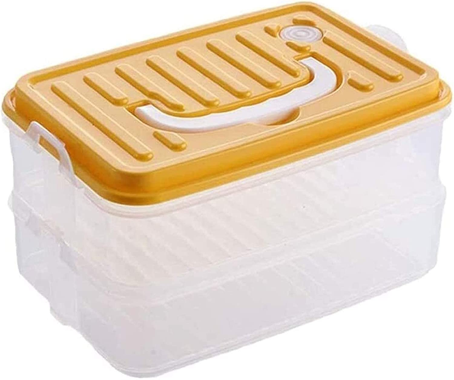 Grain Free shipping on posting reviews container Stack Carry Finally popular brand 2 Layer Box Base with Clear Handle