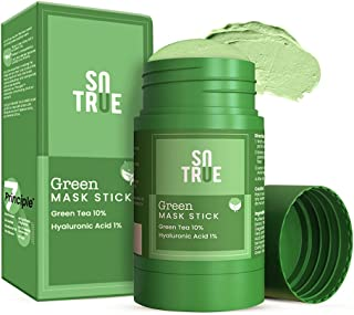 Sotrue Green Tea Cleansing Mask Stick For Face | Made in India | For Blackheads, Oil Control & Anti-Acne | Purifying Solid...