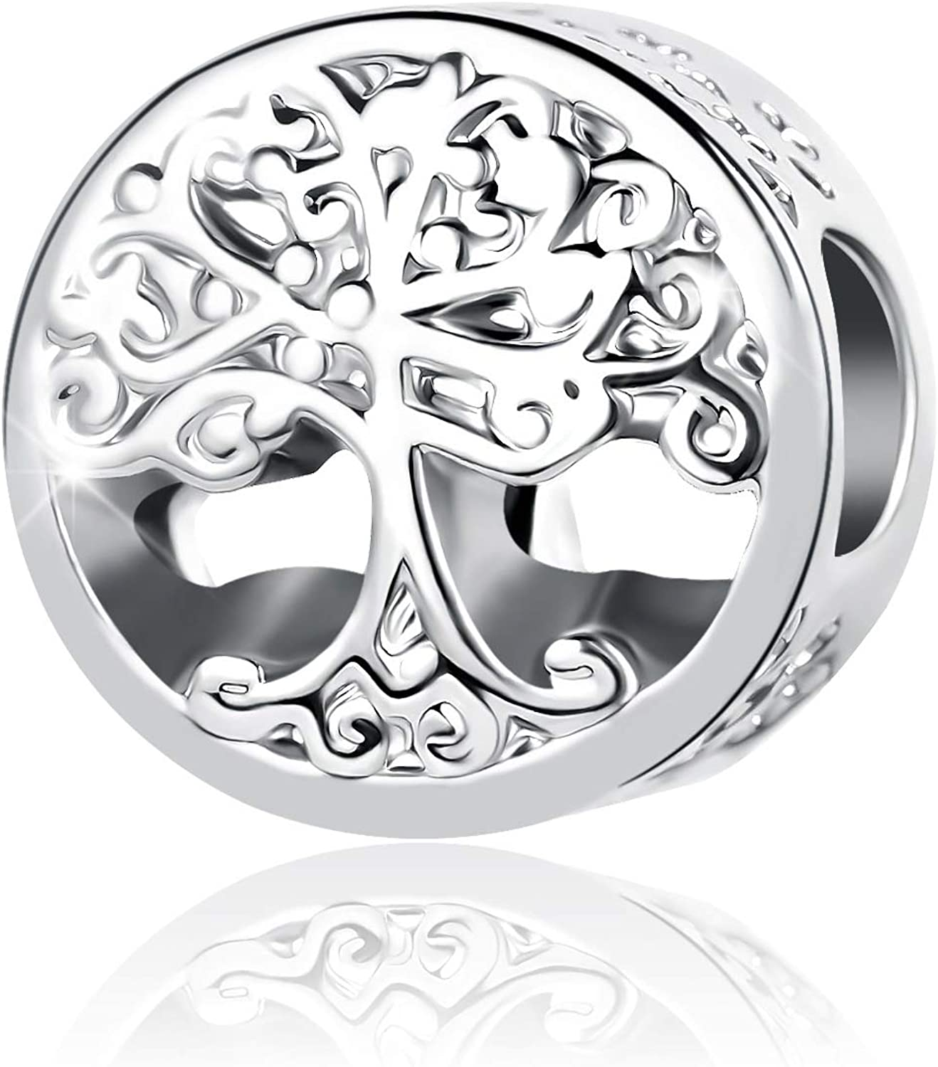QeenseKc Circle of Life Charm Family Forever Tree of Life Bead for Pandora Bracelet