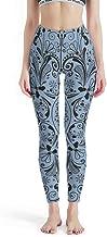 IOVEQG Women Compression Fitness Yoga Leggings Cornflower Blue Mandala Super Soft Leggings Non See-Through Fabric