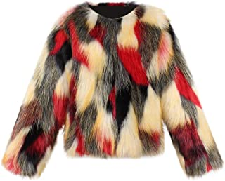 Toddler Faux Fur Thick Coat, Kids Baby Girl Winter Warm Solid Clothes Outwear