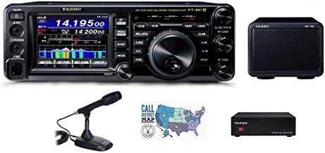 Bundle - 5 Items: Includes Yaesu FT-991A HF/VHF/UHF All-Mode Transceiver, Desk Mic, 23A Power Supply, Matching External Sp...