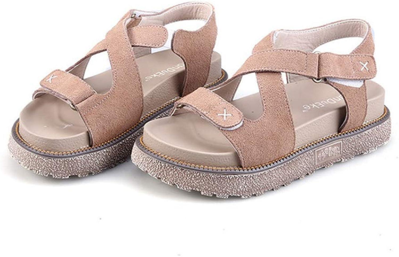 JOYBI Women Fashion Slip On Sandals Hook Loop Comfortable Cross-Strap Casual Lady Open Toe Platform shoes