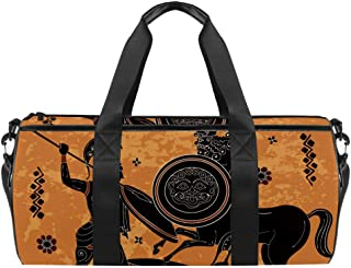 AISSO Duffel Bag for Women Men Ancient Greek Painting Sports Gym Tote Bag Weekend Overnight Travel Bag Outdoor Luggage Han...