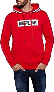 Replay Men's Logo Print Sweatshirt Red XX-Large