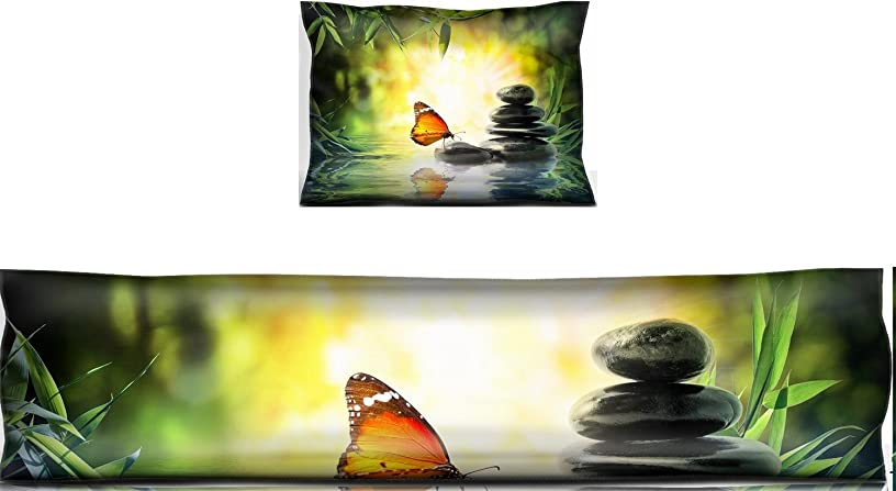 Luxlady Mouse Wrist Rest and Keyboard Pad Set, 2pc Wrist Support delicate concept butterfly on water in garden IMAGE ID 27847872