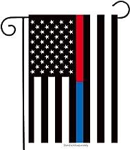Briarwood Lane Thin Blue & Red Line Garden Flag Police Firefighter Patriotic 12.5