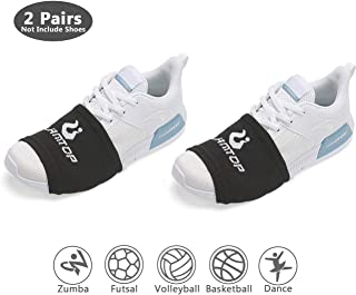 LAMANTOP Sock Shoes Dance on Smooth Floors-Non Slip Compression Socks Sliders-Over Sneakers Shoe Smooth Pivots-Turns to Dance with Style on Wood Floors-Protect Knees for Men Women Kid
