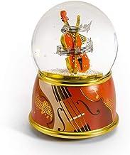 MusicBoxAttic Violín con Base Pintada con diseño de música y Globo de Nieve – más de 400 Opciones de Canciones, Vidrio, 058. Born Free - Swiss