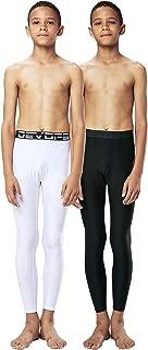 DEVOPS Boys 2 Packs Compression Cool Dry Tights Baselayer Running Active Leggings Pants