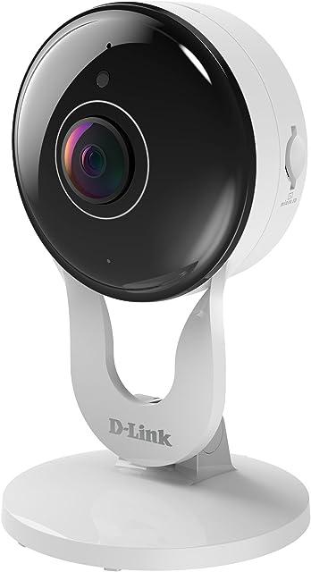 D-Link DCS-8300LH – Cámara de vigilancia/Seguridad WiFi 1920 x 1080 Compatible con Amazon Alexa Google Home e IFTTT grabación en la Nube y en el móvil Full HD 1080p Ranura MicroSD