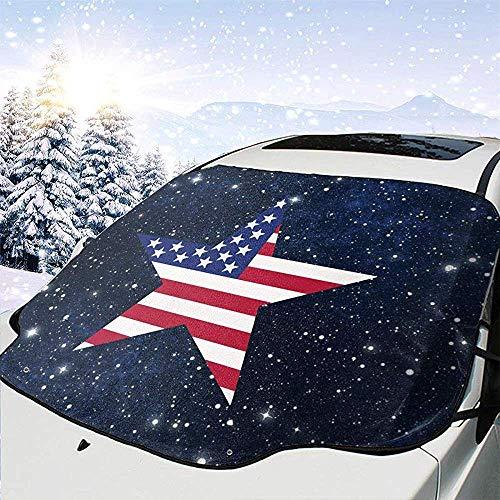 GOSMAO USA Flag Star Car Cubierta del Parabrisas Delantero Cubierta de la Nieve del Vidrio del Coche 147x118cm