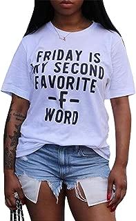 Women Casual Short Sleeve Crew Neck Basic Letters Printing Blouse T-Shirt Dress