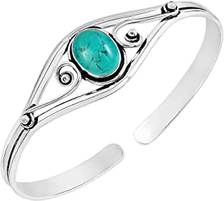 Best mens sterling silver turquoise cuff bracelets Reviews