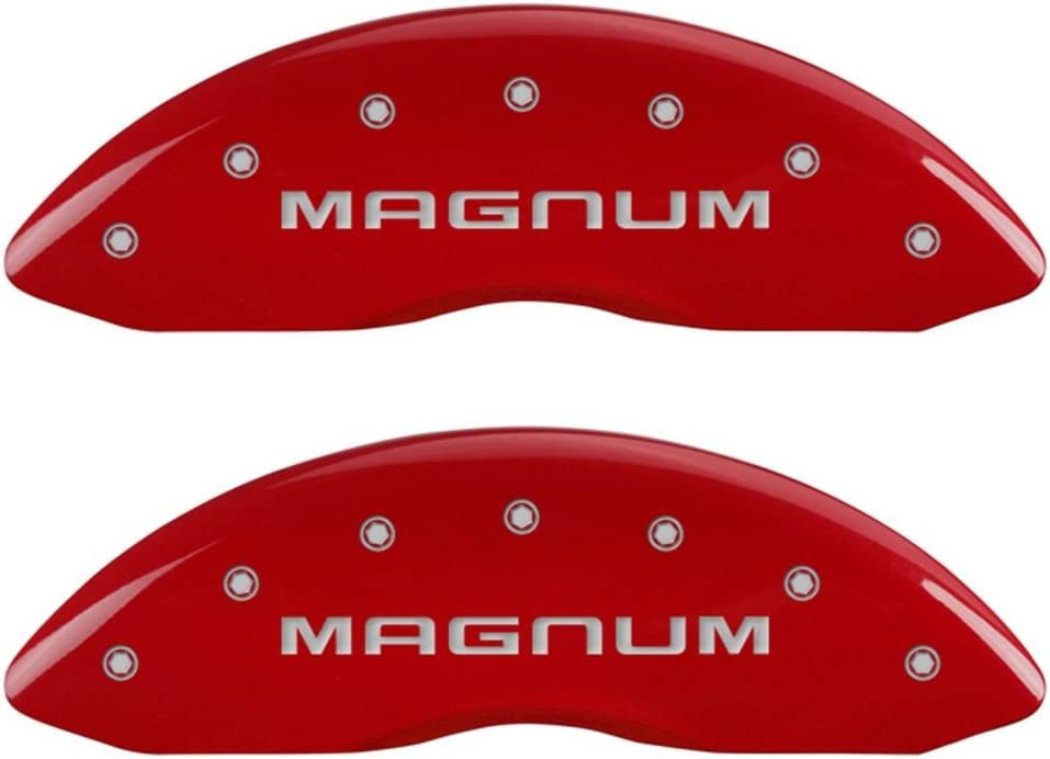 SET OF 4 CALIPER COVERS famous Jacksonville Mall FRONT RED CHA SILVER MAGNUM AND REAR: