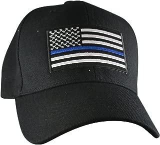 AffinityAddOns Thin Blue Line USA Hat   Black Adjustable Baseball Ball Cap   Support Police