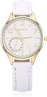 naivo Women's Quartz Stainless Steel and Gold Plated Watch, Color:White (Model: 1)