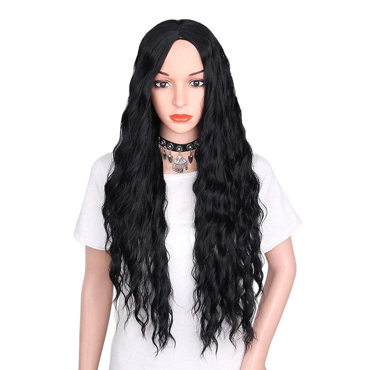 上級偶然エージェント女性のためのかつらの長い巻き毛の自然な作られた合成耐熱かつら