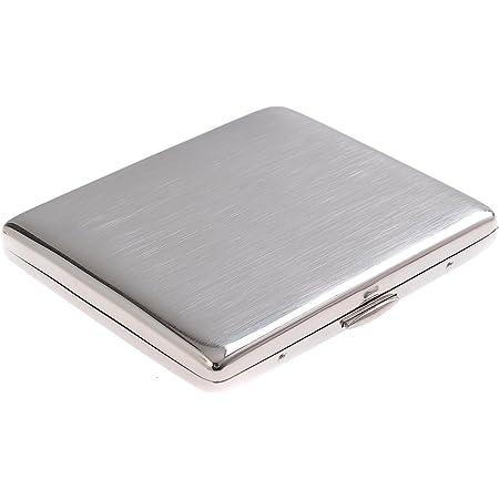 Portasigarette in acciaio inossidabile, classico minimalista, tiene fino a 9 sigarette, Mod. 6-01 (DE)