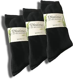 Mens Bamboo Dress Socks - Men's Bamboo Fibre Black Business Socks - 3 Pack Deal