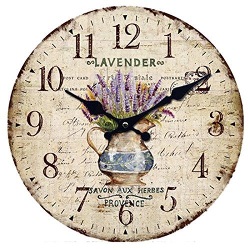 Vintage Uhr Wanduhr, Likeluk 12 Zoll Vintage Quartz Lautlos Wanduhr Schleichende Sekunde ohne Ticken
