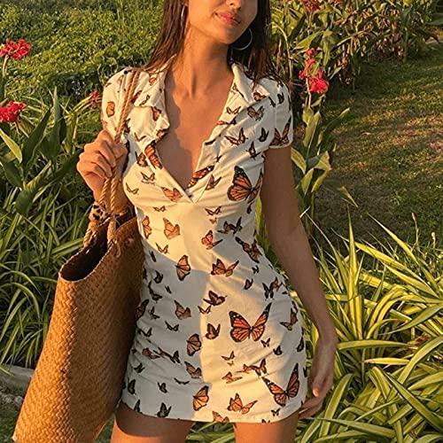 Robe moulante en tricot imprimé pour femme Y2k Summer Hollow Out, Robe mi-longue de plage printemps-été 2021 sans manches, Robes midi sexy de plage à bretelles sans manches, robe d'été sexy XL White