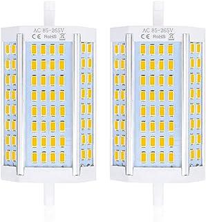 Bonlux No Regulable 25W Led R7s 118MM J118 Bombilla con 2500LM, Blanco Cálido 6000K para Lámpara de Pie (2-Unidades)