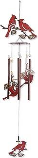 Sunset Vista Designs Garden Essentials Birds of a Feather Cardinals Wind Chime, 36-Inch Long