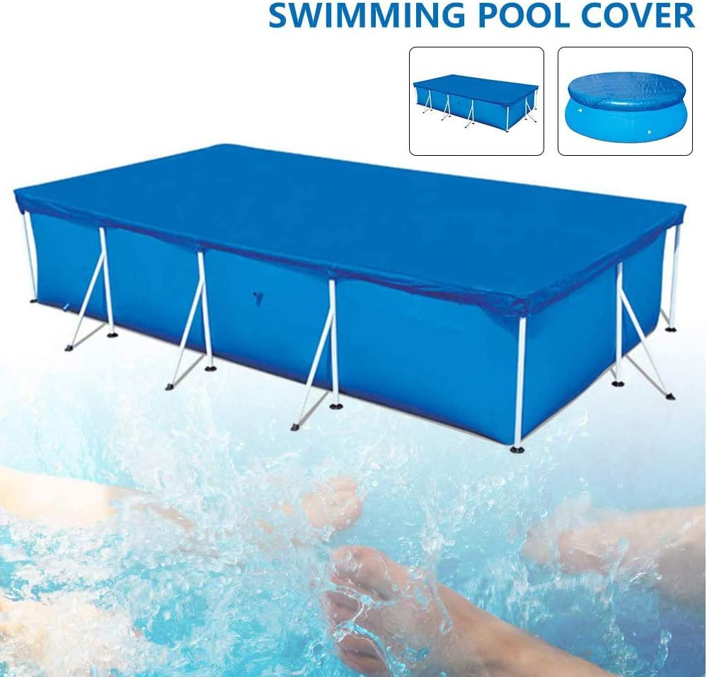 ZHENN Solarplane Rechteckig Pool Cover Easy Set Pool Abdeckplane f/ür Quick-up- Solarfolie Poolabdeckplane Solarfolie Schwimmbadabdeckung F/ür Frame Poolabdeckung blau