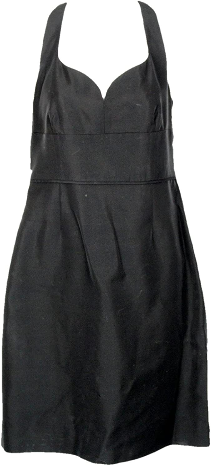J Crew Mae Dress in Classic Faille Size 10 Style C5552 Black New