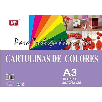 MP PN211-A3 - Pack de 10 cartulinas A3, 160 gr, multicolor: Amazon.es: Oficina y papelería